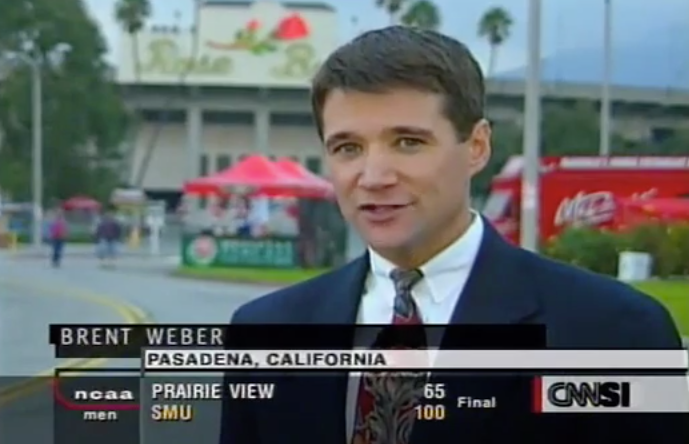 Brent Weber CNN/SI Rose Bowl Stand-up